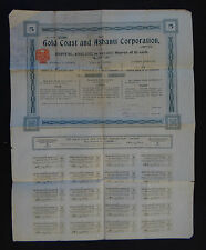 ACTION share warrant GOLD COAST AND ASHANTI CORPORATION 1906 french bond