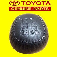 GENUINE TOYOTA SUPRA JZA80 LEATHER 6 SPEED GEAR SHIFT KNOB 1993-1998 OEM
