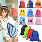 Travel Drawstring Backpack Cinch Sack Gym Waterproof School Sport Shoulder Bags