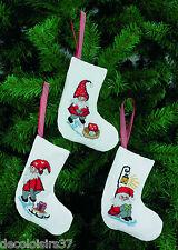 Permin  21-4235  Chaussettes de Noël  Elfes  Kit  Point de Croix  Compté
