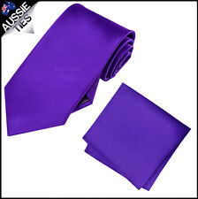 CHRISTIAN VALENTINO MENS 8.5CM TIE AND POCKET SQUARE handkerchief CHOOSE COLOUR