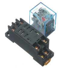 220V Coil Power Relay 10A DPDT LY2NJ HH62P HHC68A-2Z With Socket Base