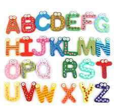 Wooden 26Pcs Letters Alphabet Learning Baby Kids Educational Toy Fridge Magnet