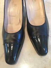TANINO CRISCI HANDMADE IN ITALY BLACK LEATHER PUMPS, Size 37 1/2!!! PERGIL