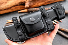 CFK Custom Handmade RIGHT or LEFT HAND Horizontal BLACK Scout Knife Blade sheath