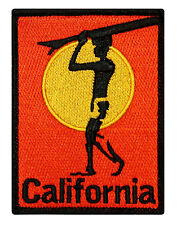 """California"" Surfboard Beach Bum Wave Rider Ocean Surf Iron On Applique Patch"