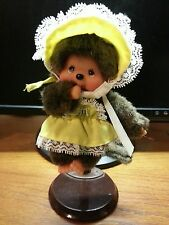 Monchhichi,Monchichi, Munchichi 5 Inch ADORABLE Girl With 1974 Vintage Outfit