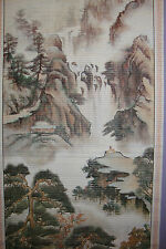 Chinese Printed Picture~Scroll~ Hanging~Feng Shui~Pine Landscape~R~uk seller
