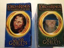Lord of the Rings 2001 Light Up Glass Goblets Gandalf and Strider