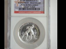 2010 Austrailia High Relief Kangaroo Proof 70UC  1st Year of Issue Low Mintage