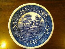 Copeland Spode's Tower Salad Plate English Transferware Blue Old Mark