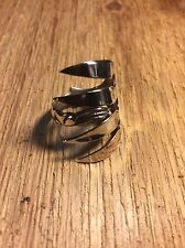 SALE !!Antique Sterling Silver Fork / Spoon Ring Custom Made !! VINTAGE