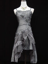 Cherlone Clearance Cheap Grey Prom Formal Ball Evening Bridesmaid Dress 8-10