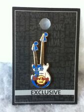 Hard Rock Cafe Pin Macau Double Headstock Guitar 2016