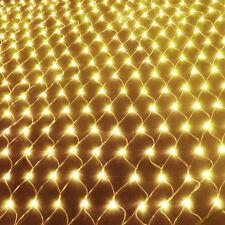 LED Lichternetz Weihnachten 6x2/3x4m Innen Außen Garten Warmweiß Lichterkett