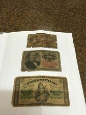 Vintage Fraction Currency Dominion Canada 25 Cent / USA 25, 10 Cent Paper Money