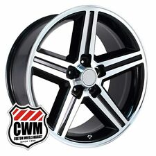 16 inch 16x8 Iroc Z Black Machined OE Replica Wheels Rims for Chevy Camaro 82-92