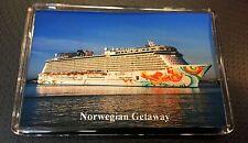 NCL Norwegian Getaway Large Fridge Magnet Cruise Ship b