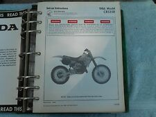 Honda CR 125 CR125 R Set Up Instructions Owner's Maintenance Manual 1986