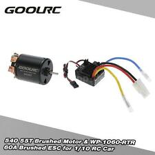 GoolRC 540 55T 4 Poles Motor and WP-1060-RTR 60A Brushed ESC for RC Car I1G9
