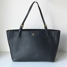 Tory Burch York Buckle Tote - Black Saffiano Leather (MSRP $295)