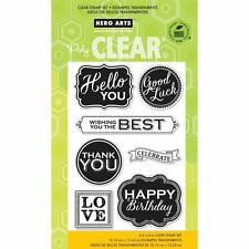 HERO ARTS Clear Stamp Set CHALKBOARD STYLE MESSAGES CL810