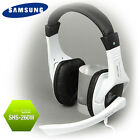 Genuine SAMSUNG SHS-260W Stereo Headset WHITE Gaming Mic for PC 3.5mm jack