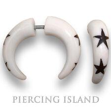 1 Paar Ohrringe GESCHRAUBT Fake Tunnel Bone Plug Piercing Schmuck F008