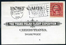 #595, coil waste on Trans-Polar Flight Expedition cover, April 28, 1924.