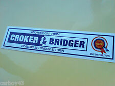 BMC Rosette Croker & Bridger Classic Mini Fans Car WINDOW Sticker 1 off 200mm