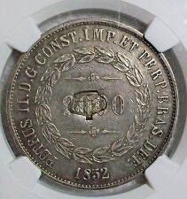 ND(1871) AZORES PORTUGUESE COLONIAL CROWN COUNTER-STAMP 1200 REIS NGC AU-