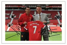 ANGEL DI MARIA & LOUIS VAN GAAL MANCHESTER UNITED SIGNED PHOTO PRINT AUTOGRAPH