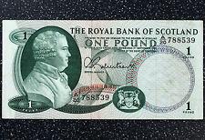 Royal Bank of Scotland £1 Note 1st September 1967 - P327 (132)