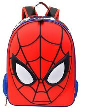"NWT Disney Store Amazing Spiderman 3D School Backpack 16"" book bag 16"" NEW"