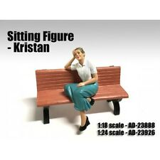 SITTING FIGURE KRISTAN FOR 1:24 SCALE MODELS BY AMERICAN DIORAMA 23926