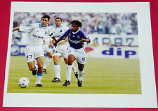 PHOTO PRO FOOTBALL 1998-1999 OLYMPIQUE MARSEILLE OM AJ AUXERRE AJA PIRES DIOMEDE