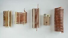 Lot of 5 Copper Wire and Tubing Coils for Radio Tuner HAM