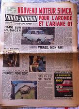 "b)L'AUTO-JOURNAL n°252 du 8/1960; Essai Dauphine Gordini/ ""Oiseau Bleu""/ J.O."