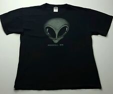 Mens Large Roswell UFO Gray Alien Glow in Dark T-Shirt Area 51 Close Encounter