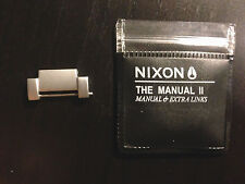 Nixon The Manual II Matte Silver Extra link .. Free Shipping