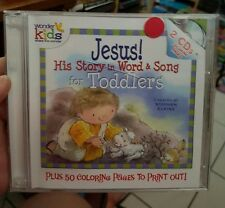 Jesus - His Story in word & Song For Toddlers (2 discs) MUSIC CD- FREE POST