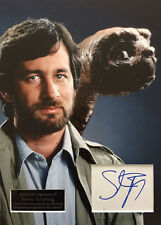 STEVEN SPIELBERG GENUINE AUTHENTIC SIGNED E.T 16X12 DISPLAY AFTAL & UACC [11854]