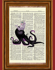 Ursula The Little Mermaid Dictionary Art Print Poster Picture Disney Villain