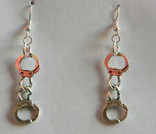 BDSM KINK Handcuff Dangle Earrings by Artisan Slave Violet Jewelry