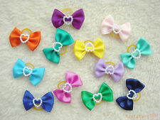 20 dog cat puppy hair bow wholesale lots of  headdress flower pets gift #a2