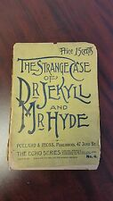 Scarce 1887 printing of Dr. Jekyll and Mr. Hyde by Robert Louis Stevenson