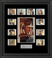 INDIANA JONES TEMPLE OF DOOM MOUNTED FRAMED 35MM FILM CELLS