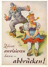 Militärische Karikatur-Karte,  Zuerst anvisieren dann abdrücken  6/12/15