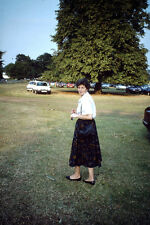 Vintage Kodak Kodachrome Slide Negative - A Well Dressed Old Lady In The Park