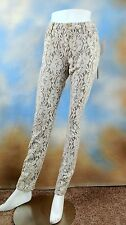 $178 7 SEVEN FOR ALL MANKIND stretch ivory shimmer lace skinny jeans SZ: 32
